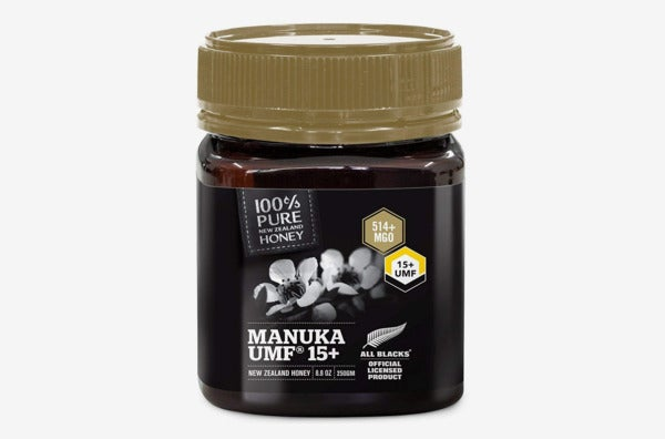 Pure New Zealand Certified UMF 15+ Manuka Honey.