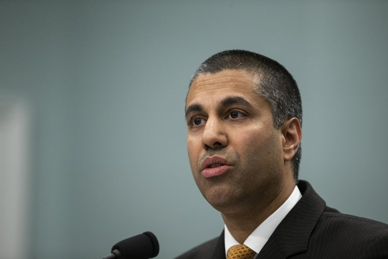 FCC Chairman Ajit Pai blamed three other officials for the mistake.