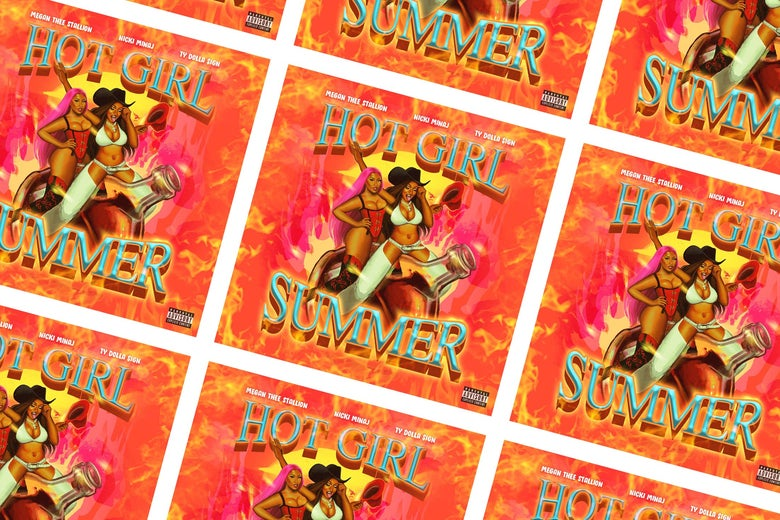 """Hot Girl Summer"" cover art."
