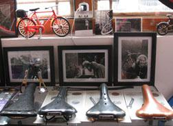 An homage to cycling style at Ines Brunn's shop, Natooke, in Beijing. Click image to expand.