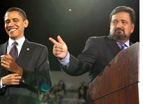 Barack Obama and Bill Richardson. Click image to expand.