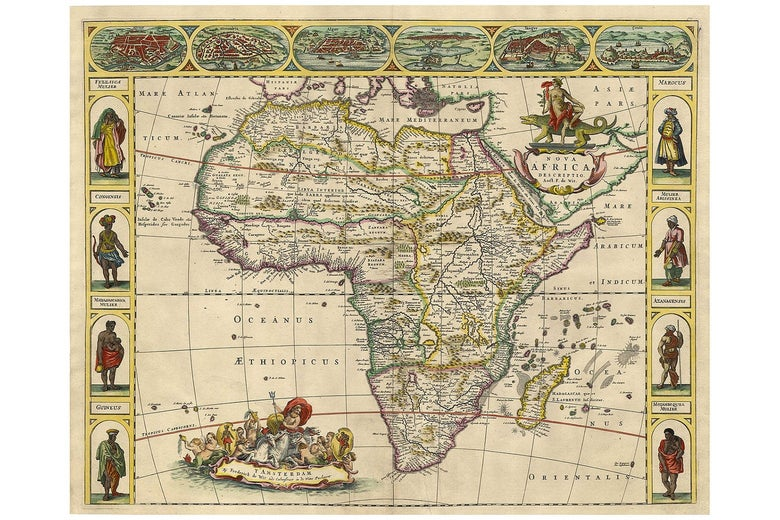 British map of Africa from 1660