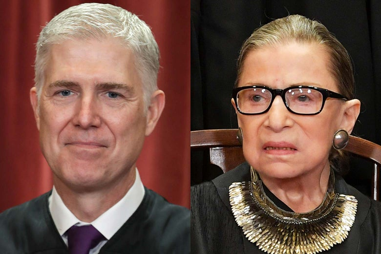Supreme Court Justices Neil Gorsuch and Ruth Bader Ginsburg
