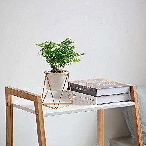 Mkono Ceramic Planter With Metal Stand.