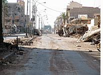A road to a Fallujah bridge (click on image to expand)