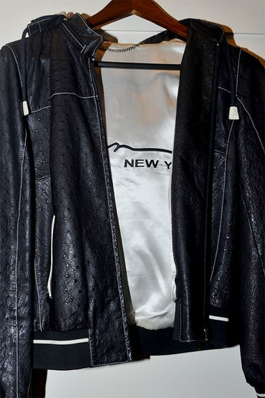 Paul Manafort's black ostrich jacket.