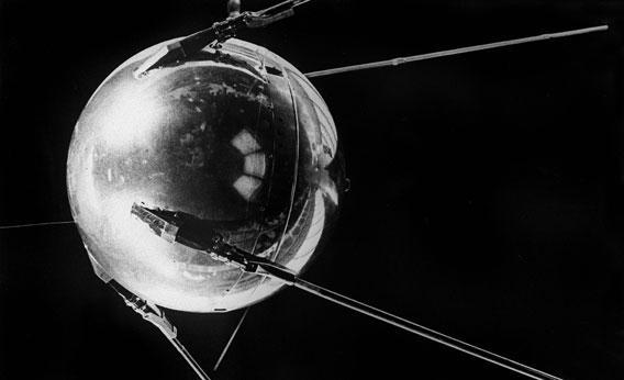 The world's first artificial satellite, Sputnik I, launched by the Soviet Union
