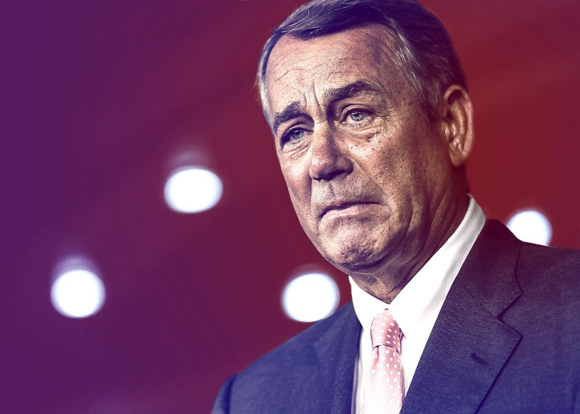 Speaker of the House John Boehner (R-OH) announces that he is re