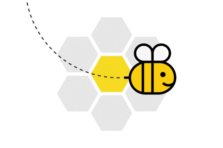 A play on the New York Times Spelling Bee logo.