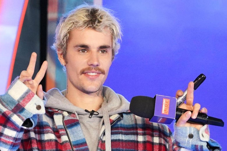 I Am Very Sad Justin Bieber's Disgusting Mustache Is Gone