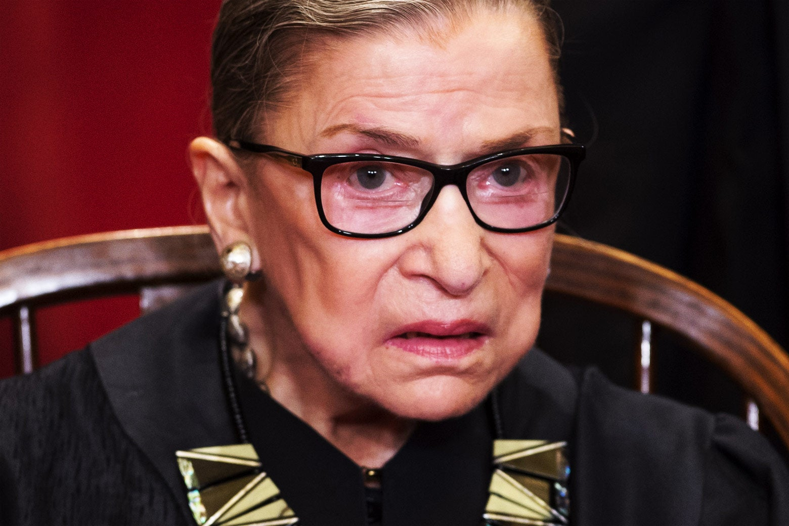Supreme Court Associate Justice Ruth Bader Ginsburg sits for an official photo on June 1. Photo by Saul Loeb/AFP/Getty Images.