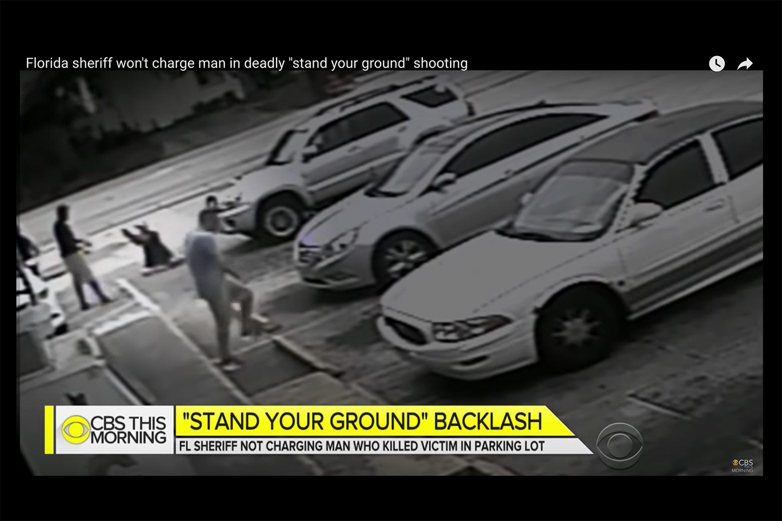Footage of McGlocktin's shooting, as aired on CBS This Morning.