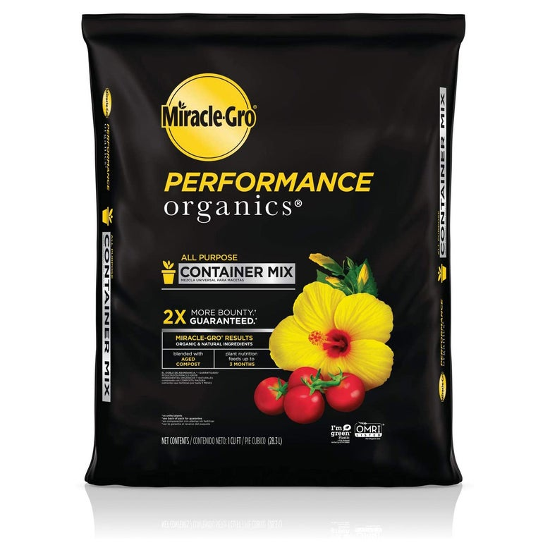 Miracle-Gro Performance Organics All-Purpose Container Mix.