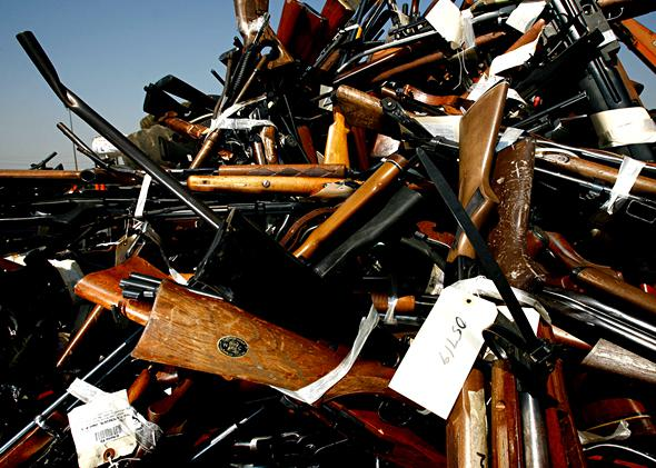 California: Confiscated Weapons