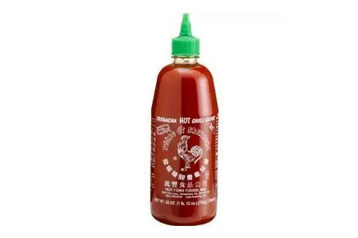 Huy Fong Sriracha Chili Hot Sauce.