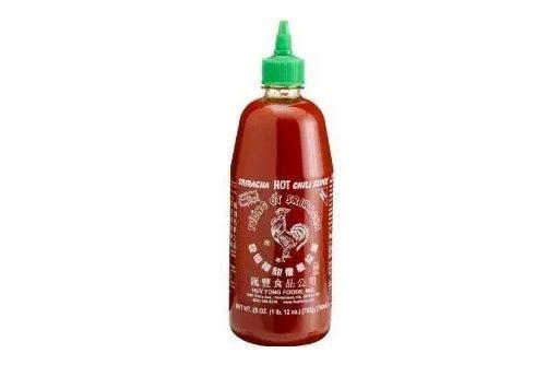 Huy Fong Sriracha Chili Hot Sauce.