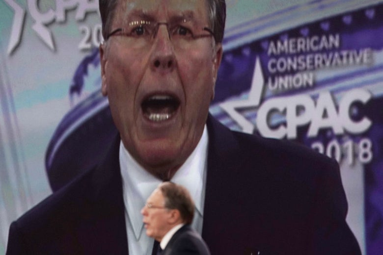 NRA CEO Wayne LaPierre at the Conservative Political Action Conference on Thursday.