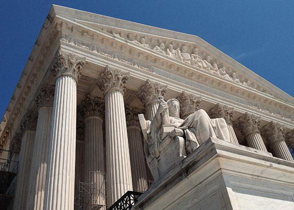 The U.S. Supreme Court building.