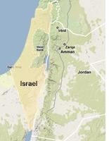 Map of Israel.