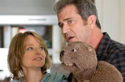 "Still of Jodie Foster and Mel Gibson in ""The Beaver."""