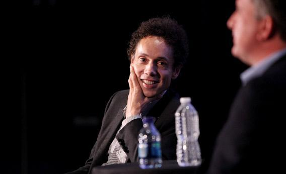 Journalist Malcolm Gladwell speaks.