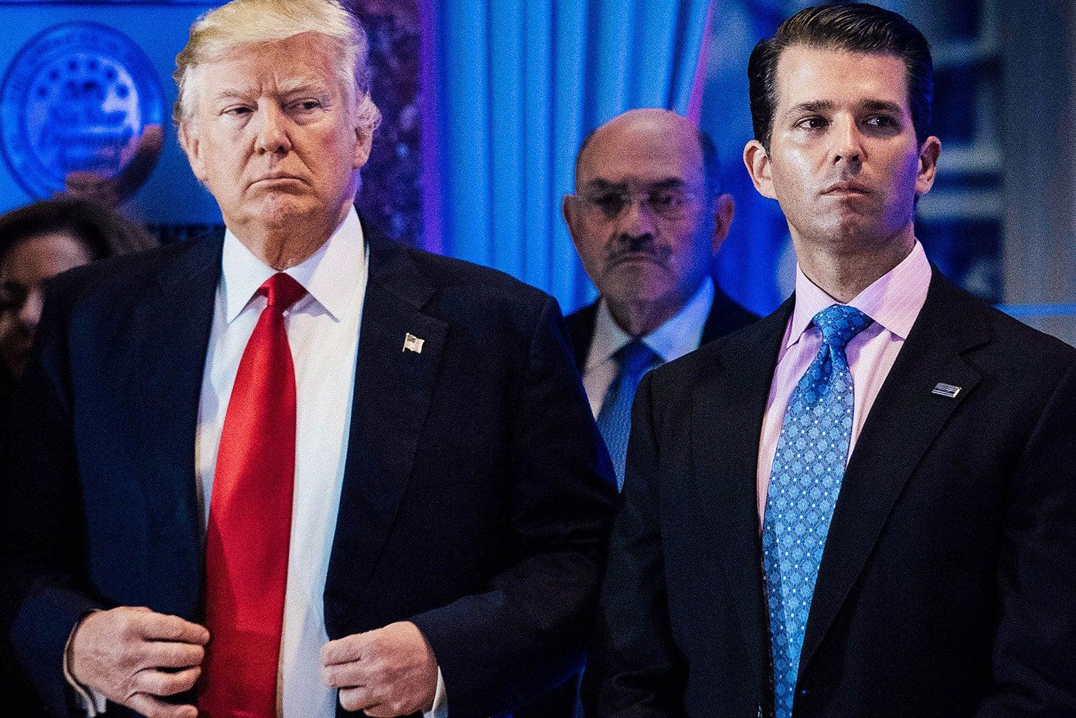 Donald Trump and Donald Trump Jr.