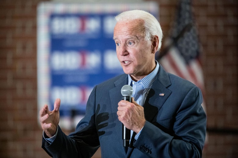 Democratic presidential candidate, former vice President Joe Biden addresses a crowd at Wilson High School on October 26, 2019 in Florence, South Carolina.