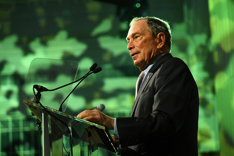 Michael Bloomberg speaks at a gala.