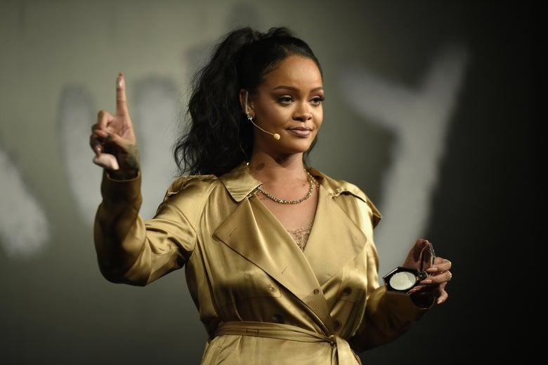 Rihanna was among those targeted.