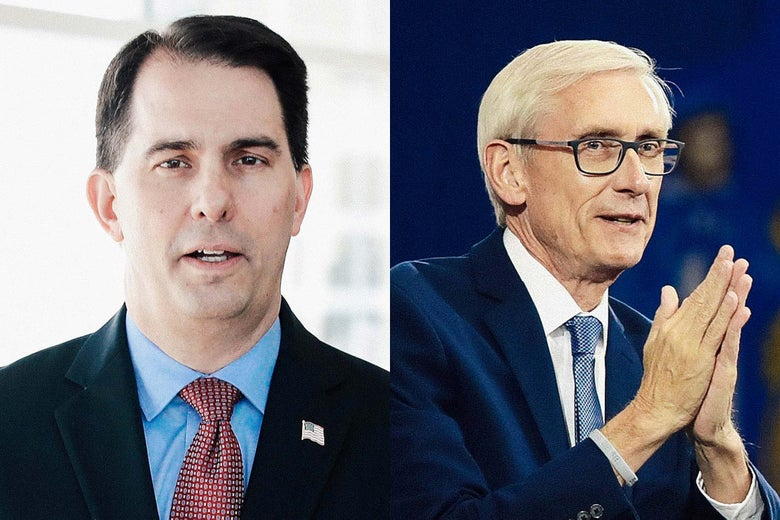 Scott Walker and Tony Evers.