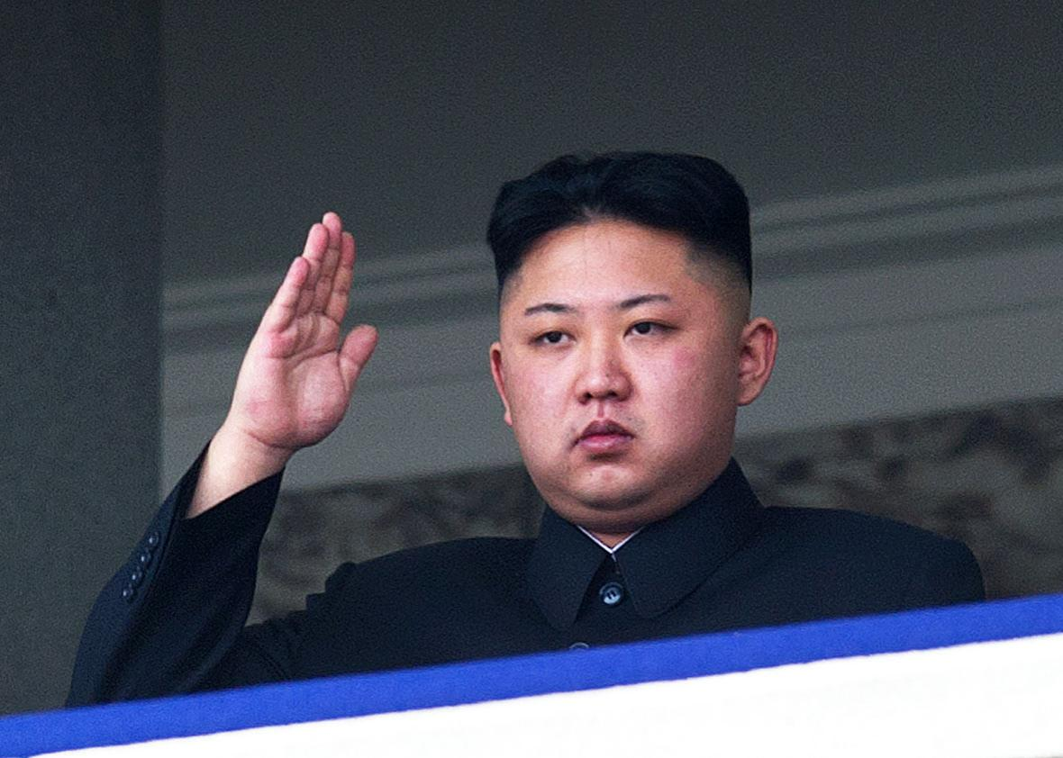 This file photo taken on April 15, 2012 shows North Korean leader Kim Jong-Un saluting as he watches a military parade to mark 100 years since the birth of the country's founder and his grandfather, Kim Il-Sung, in Pyongyang.