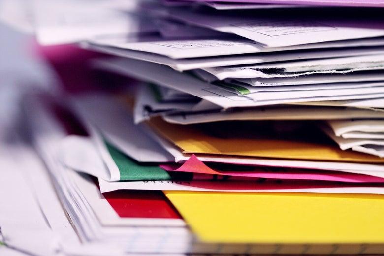 A stack of envelopes.