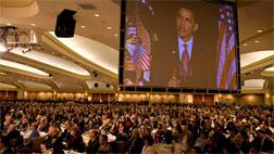 Barack Obama speaks at National Prayer Breakfast.