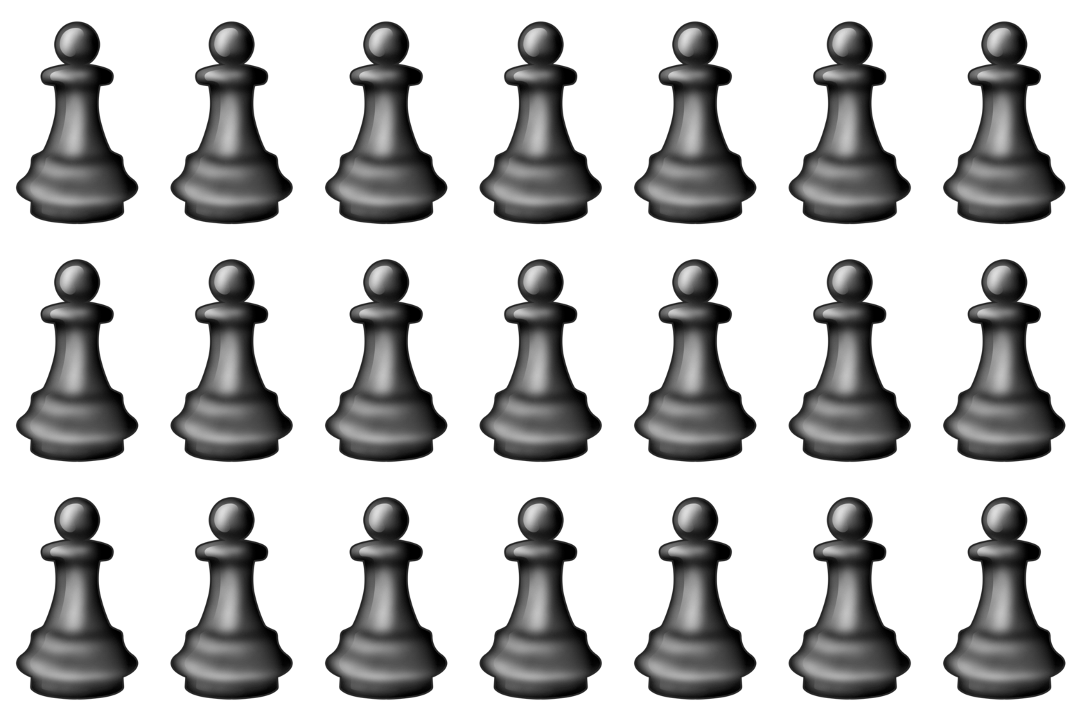 Chess piece emojis.