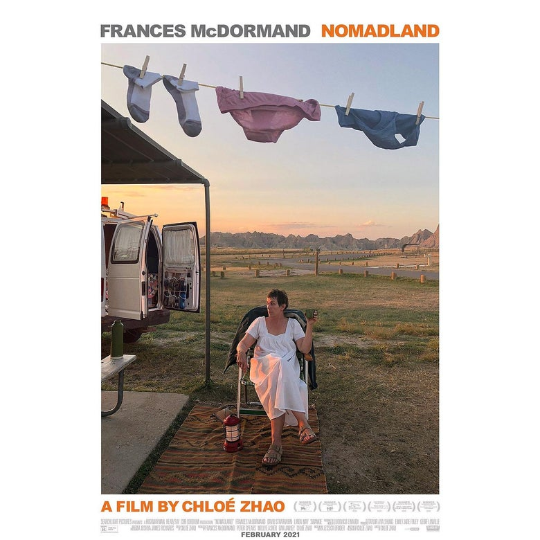 The poster for Nomadland.