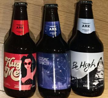 ARK's line-up of craft beers.