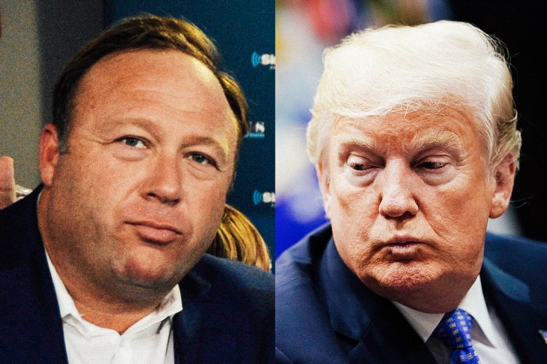 Alex Jones, Donald Trump.