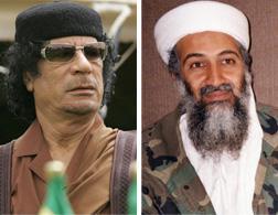 Muammar Qaddafi and Osama Bin Laden. Click image to expand.