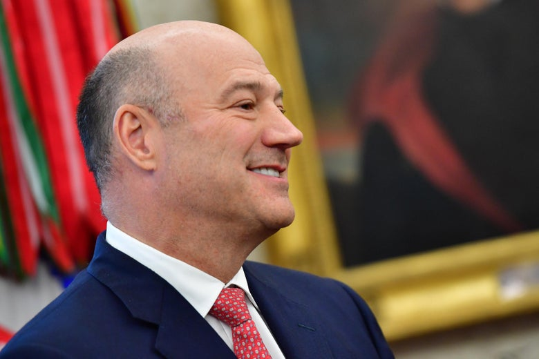 White House chief economic adviser Gary Cohn in the Oval Office.