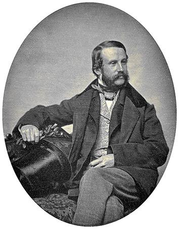Daguerreotype of Henry Jacob Bigelow circa 1854.