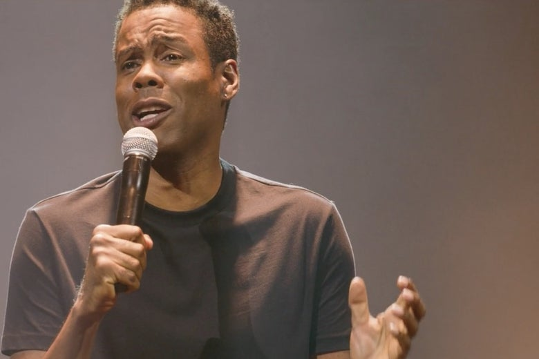 Chris Rock in his first standup special in a decade, Tamborine.