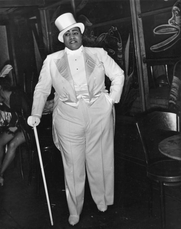 Gladys Bentley at the Ubangi Club in Harlem, photo by Sterling Paige. Early  1930s.
