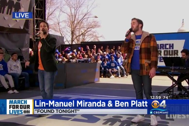 Lin Manuel Miranda And Ben Platt Performed Their Hamiltondear Evan