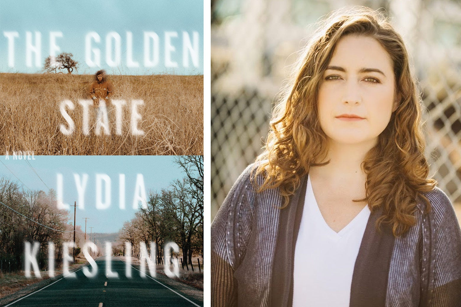 Lydia Kiesling and her book, The Golden State.