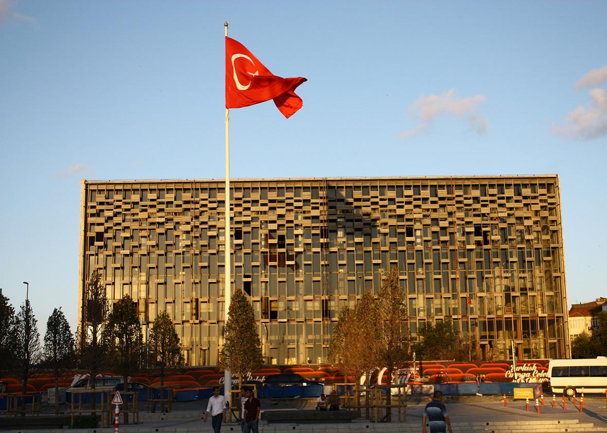 The Ataturk Cultural Center on Taksim Square, considered the center of European Istanbul.