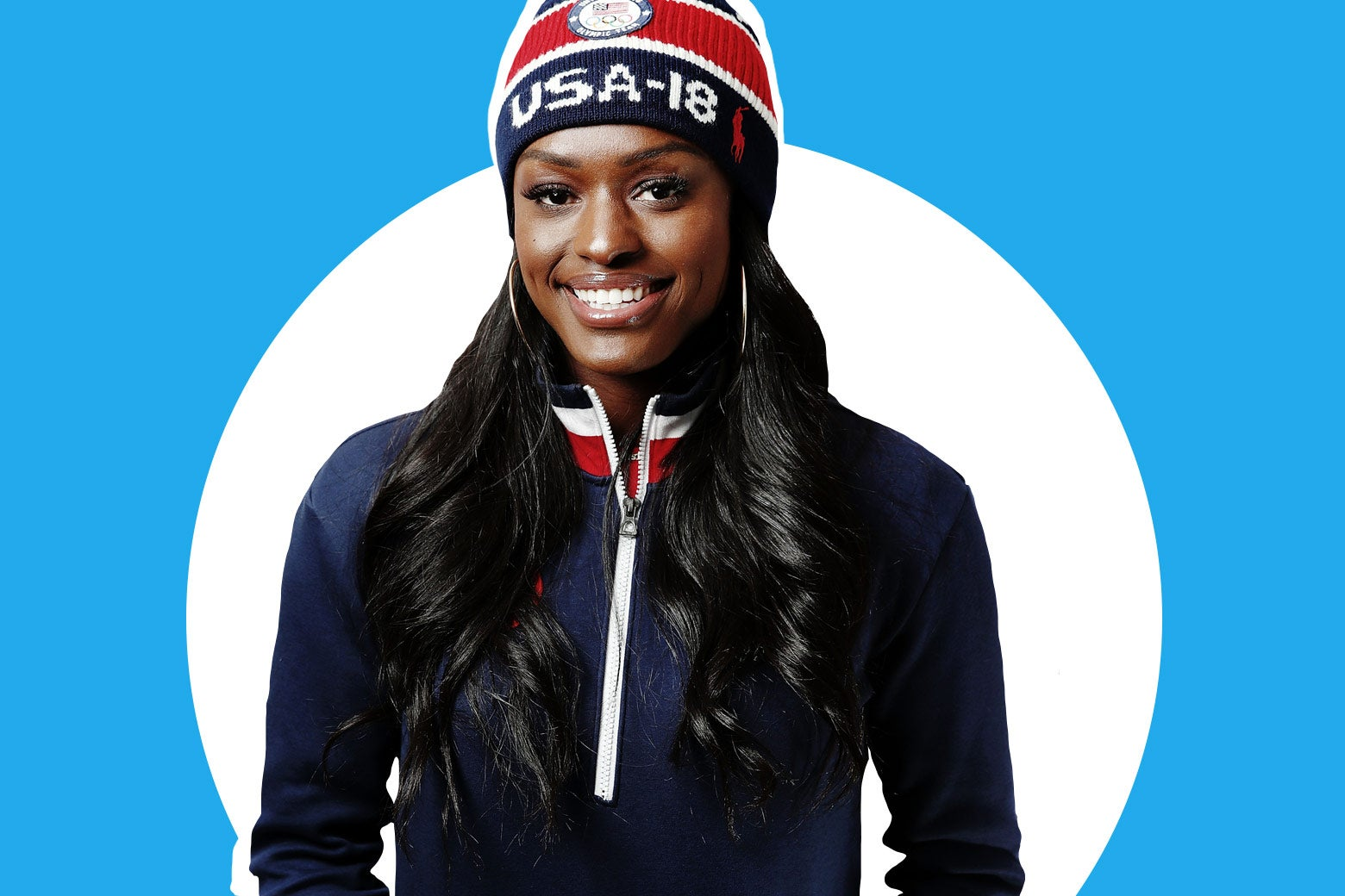 United States Women's Bobsled team member Aja Evans poses for a portrait on the Today Show Set on February 15, 2018 in Gangneung, South Korea. (Photo by Marianna Massey/Getty Images)
