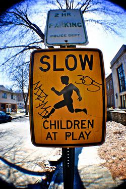 Children at play sign. Click to expand image.
