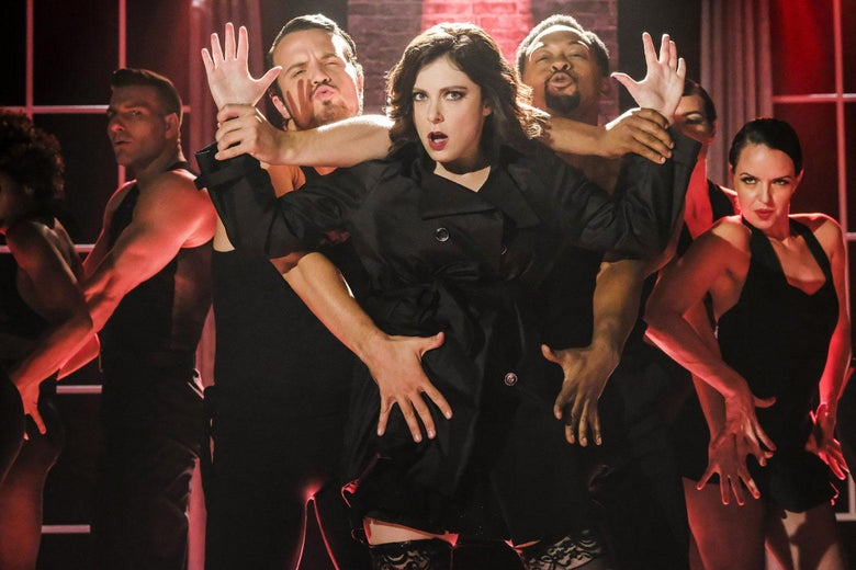 Rachel Bloom as Rebecca Bunch in Crazy Ex-Girlfriend, Season 3.