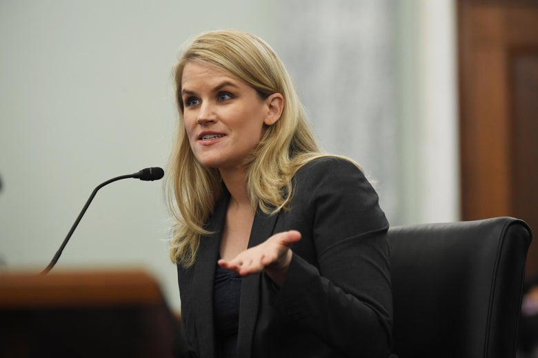 Frances Haugen appears before the Senate Commerce, Science, and Transportation Subcommittee.