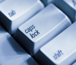 Ye olde caps lock key.